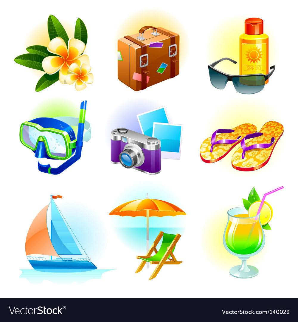 Travel set vector image