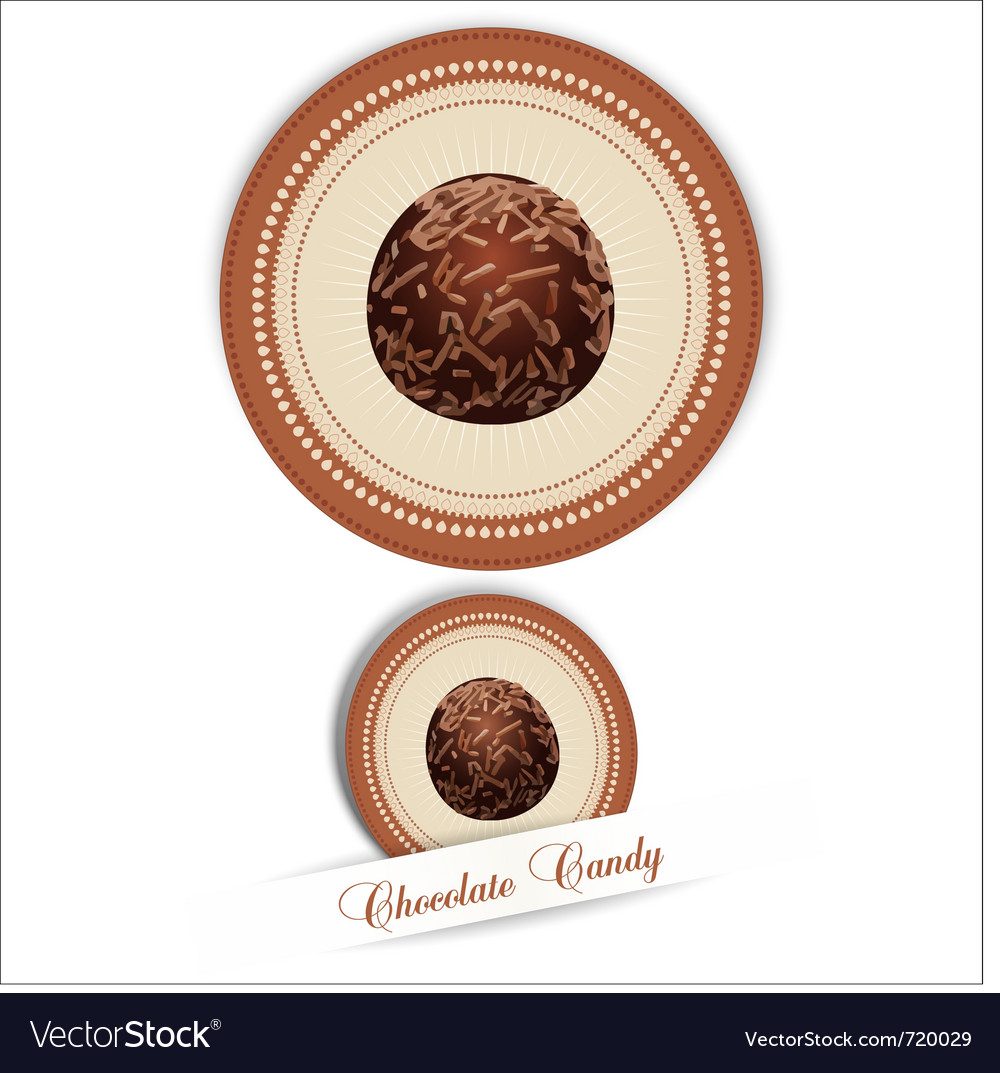 Label with the chocolates vector image