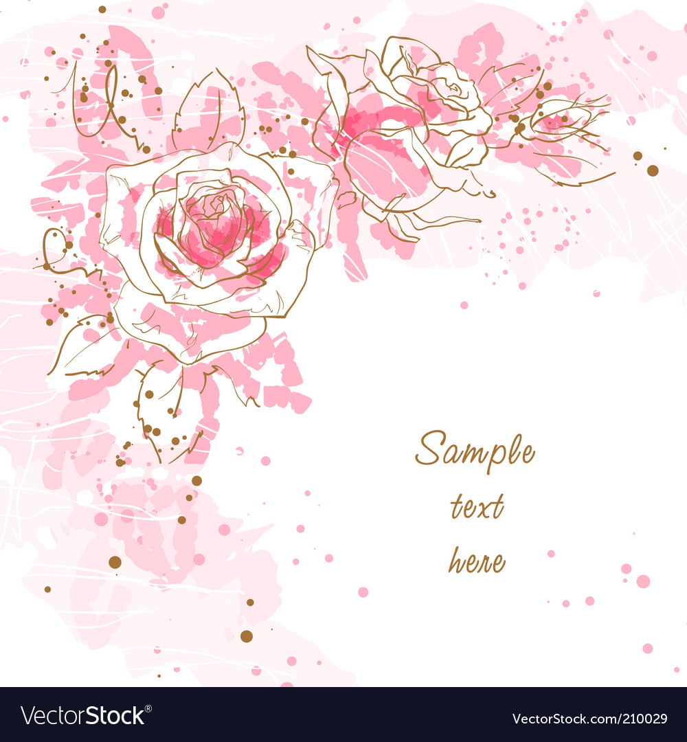Romantic background with roses vector image