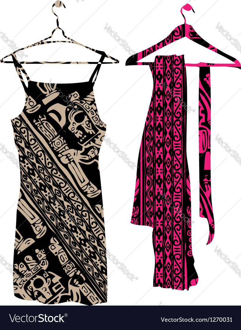 Dress clothes hanger vector image