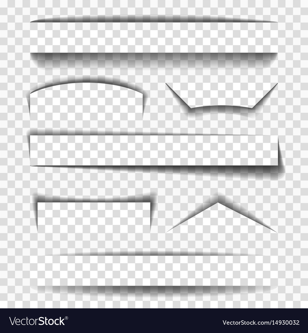 Shadow elements for pages vector image