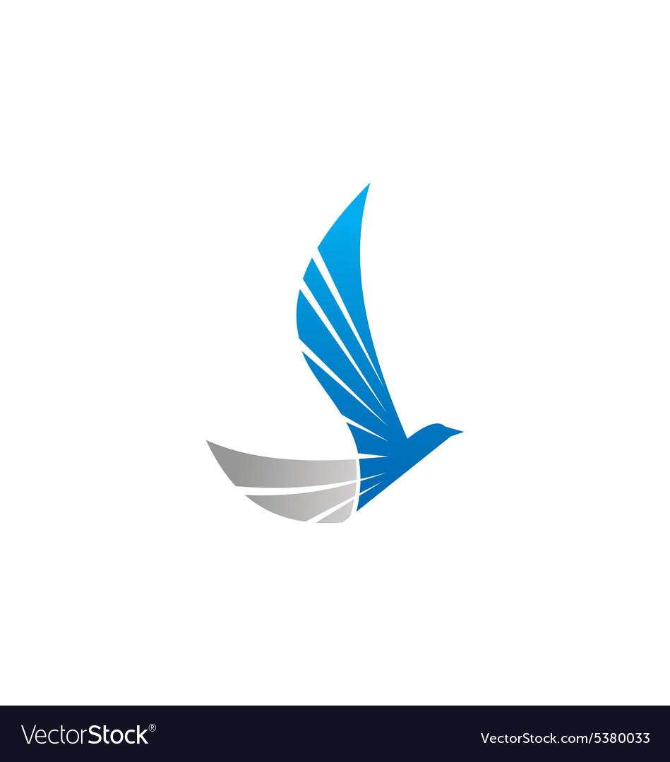Abstract wing bird eagle fly logo vector image