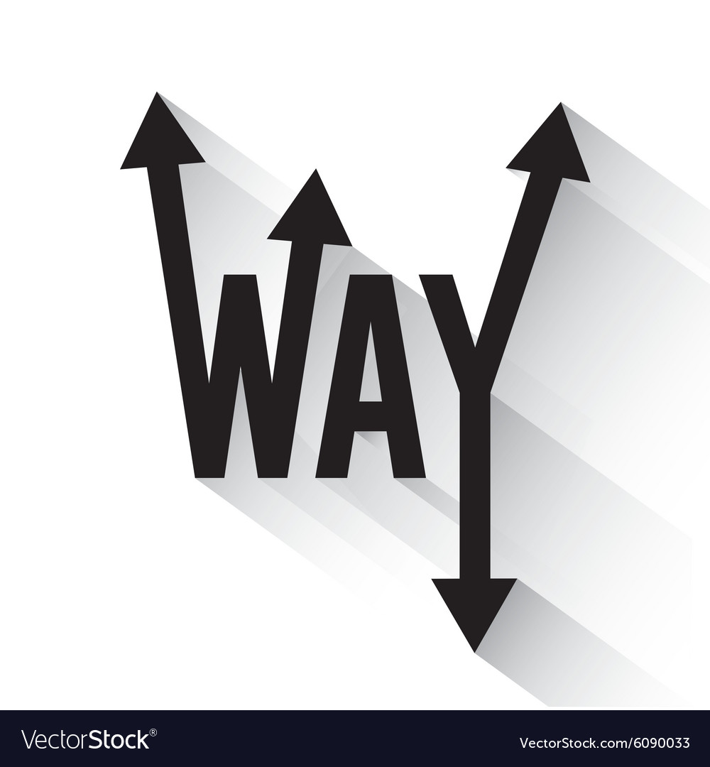 One Way Road Sign Advertising Design Royalty Free Vector