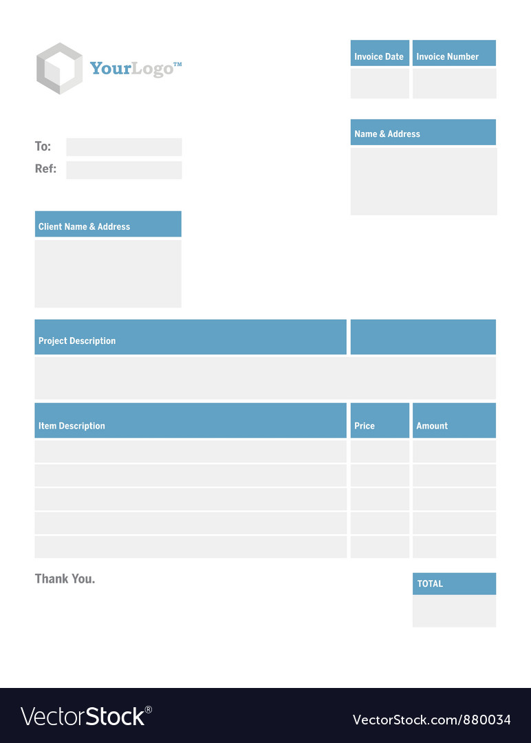 blank invoice template royalty free vector image - vectorstock, Invoice examples