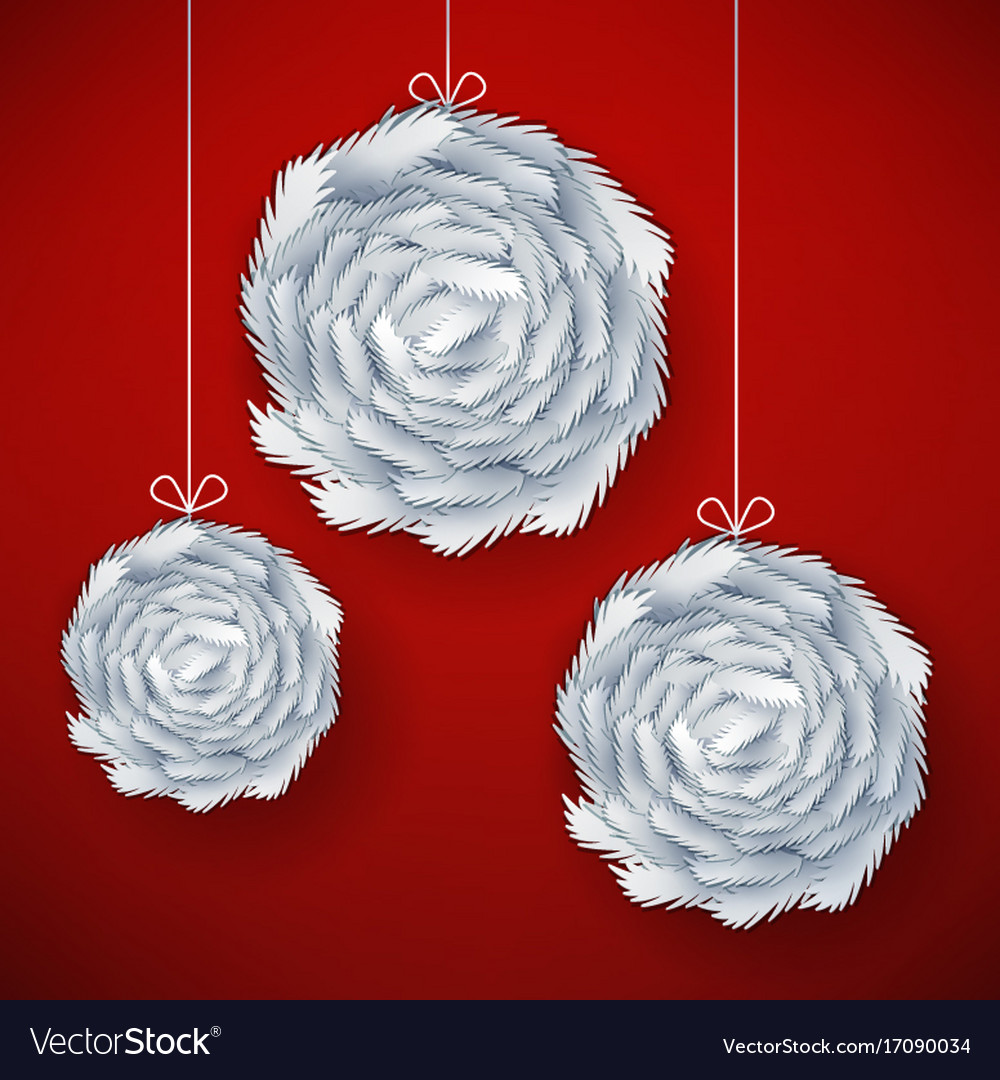 Decorative paper cut balls vector image