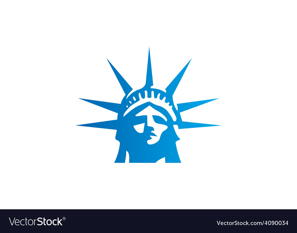 liberty statue head freedom logo royalty free vector image rh vectorstock com statue of liberty lego instructions statue of liberty lego minifigure