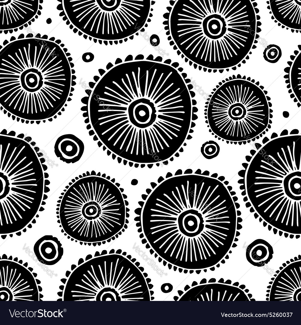 Abstract circle seamless pattern for your design vector image