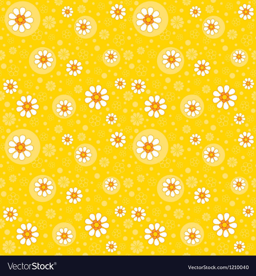 Retro seamles yellow background vector image