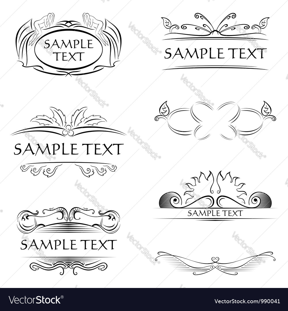 Decorations and frames vector image