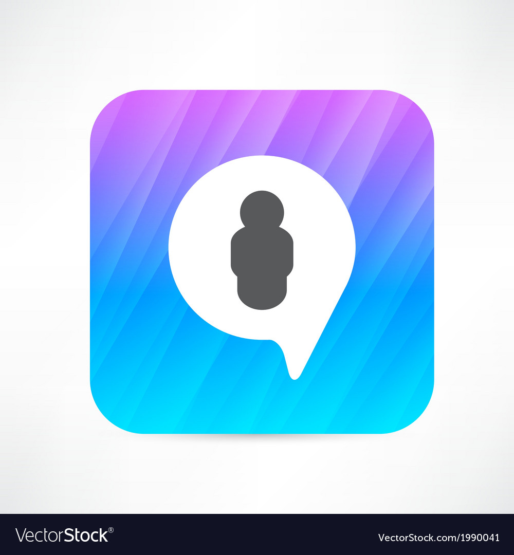 Man in the bubble speech icon vector image