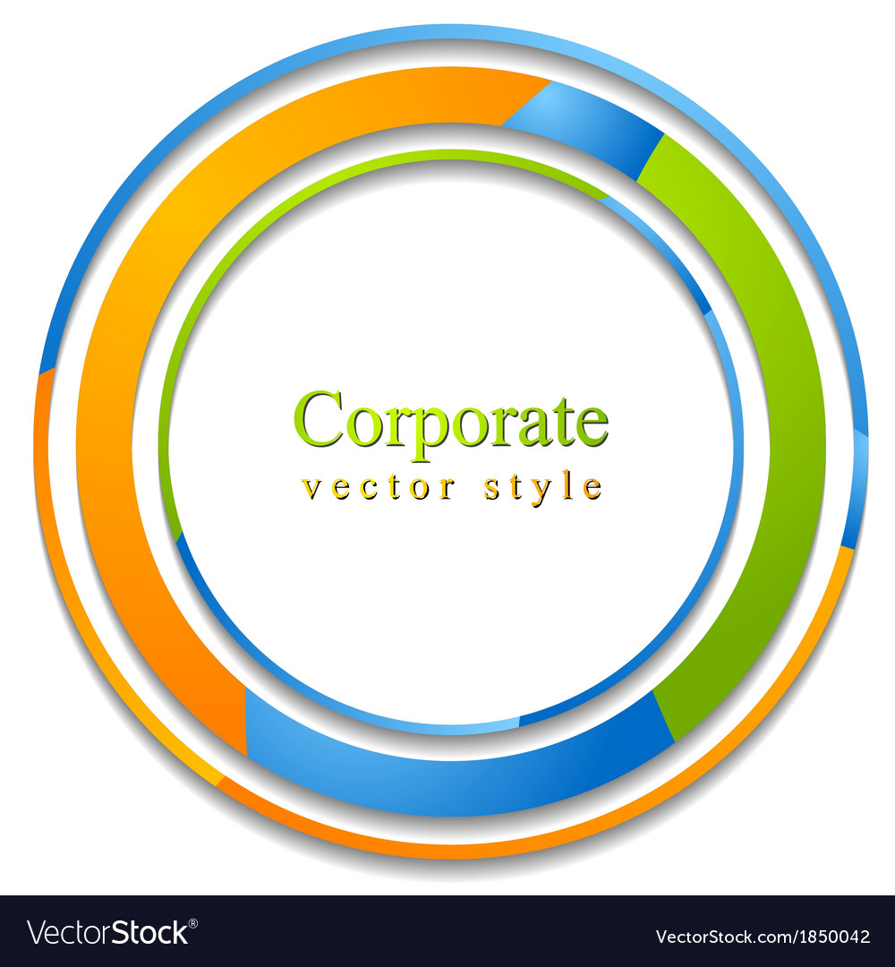 Abstract circle logo background vector image