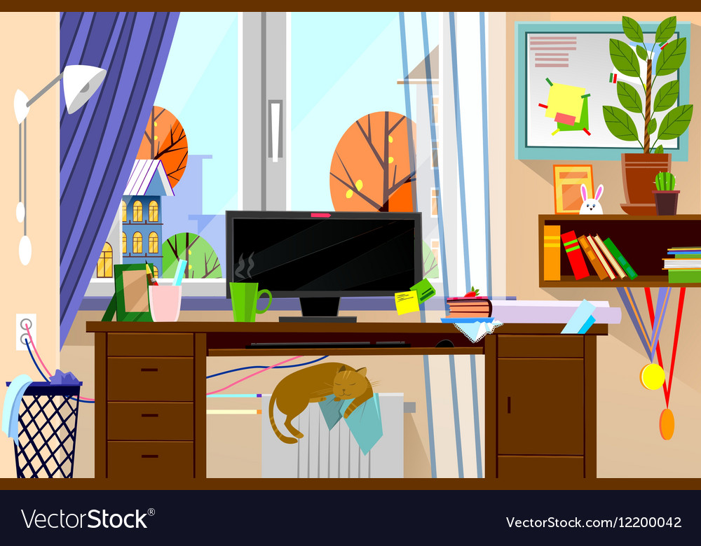 Cartoon style modern web site vector image