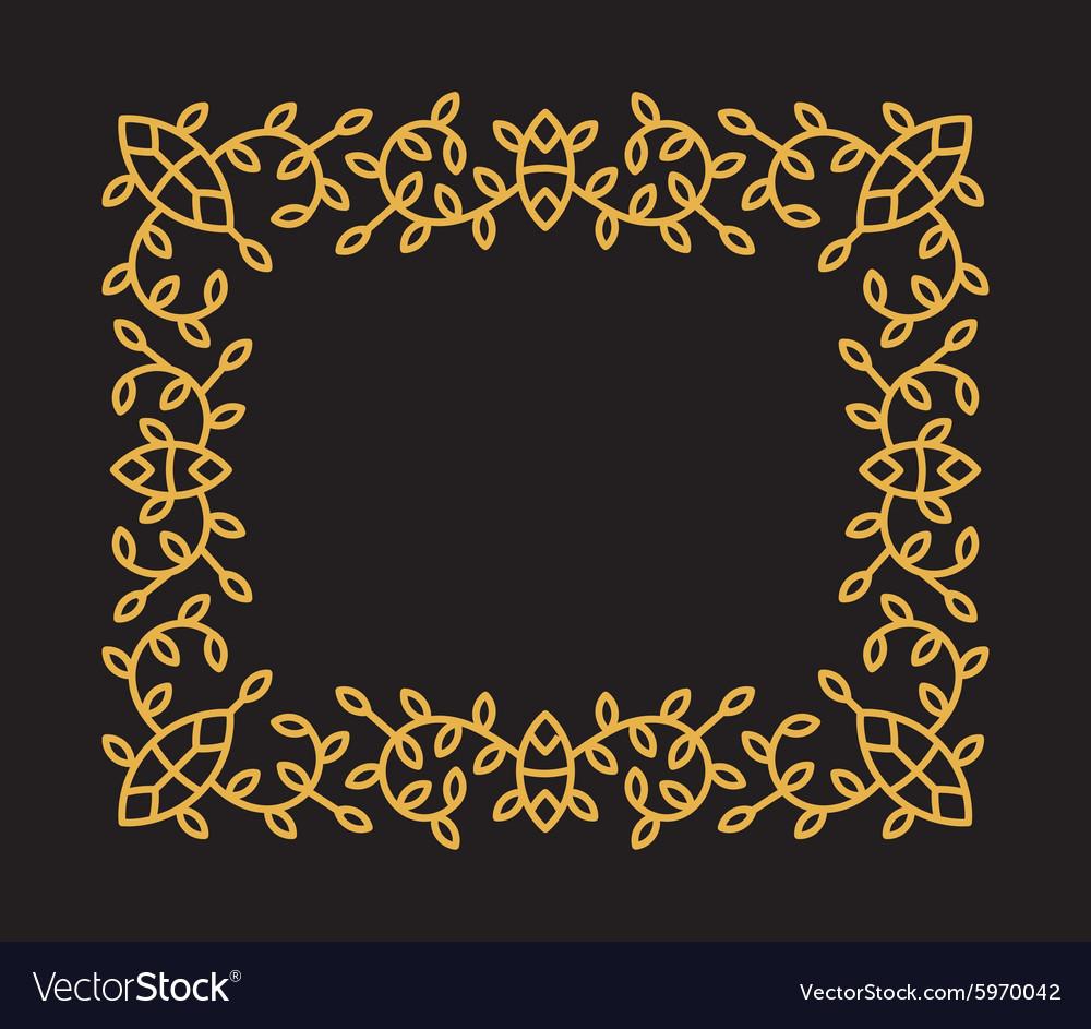 Monogram frame in trendy mono line style vector image