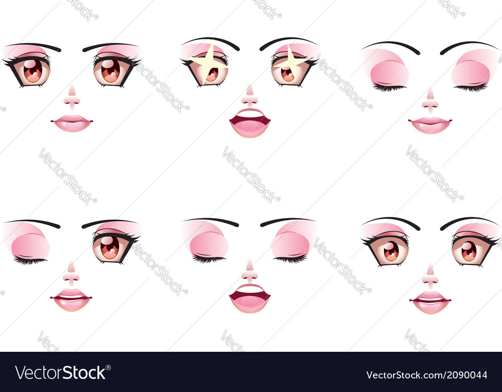Happy Female Face vector image