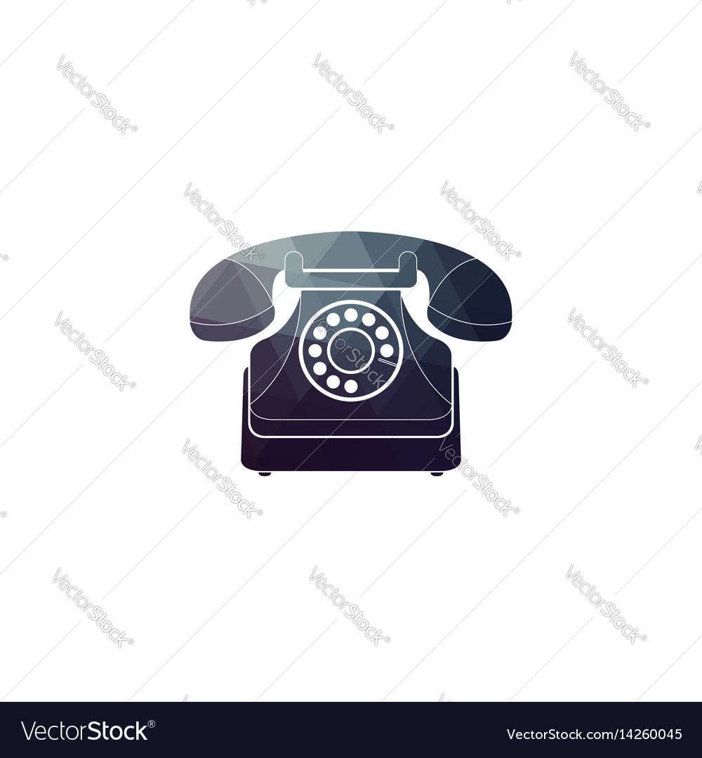 Icon of a retro phone vector image