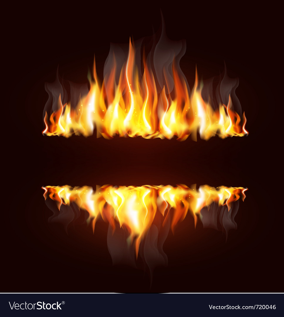 Fire borders vector image