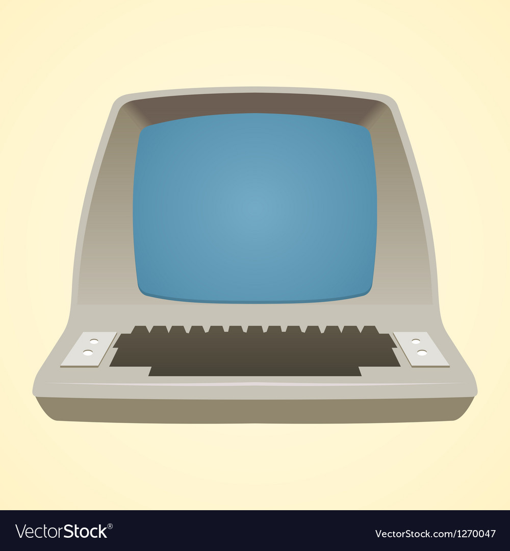 Old Computer Vector Image