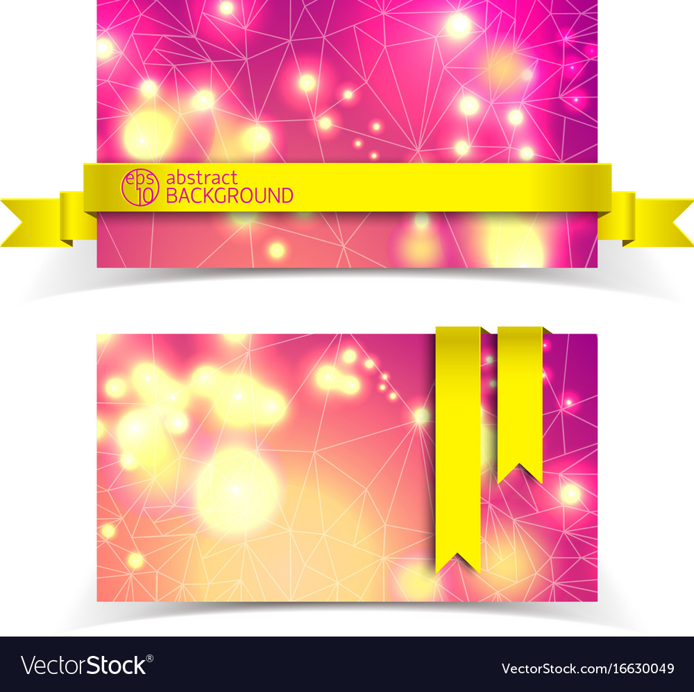 Horizontal banner set vector image