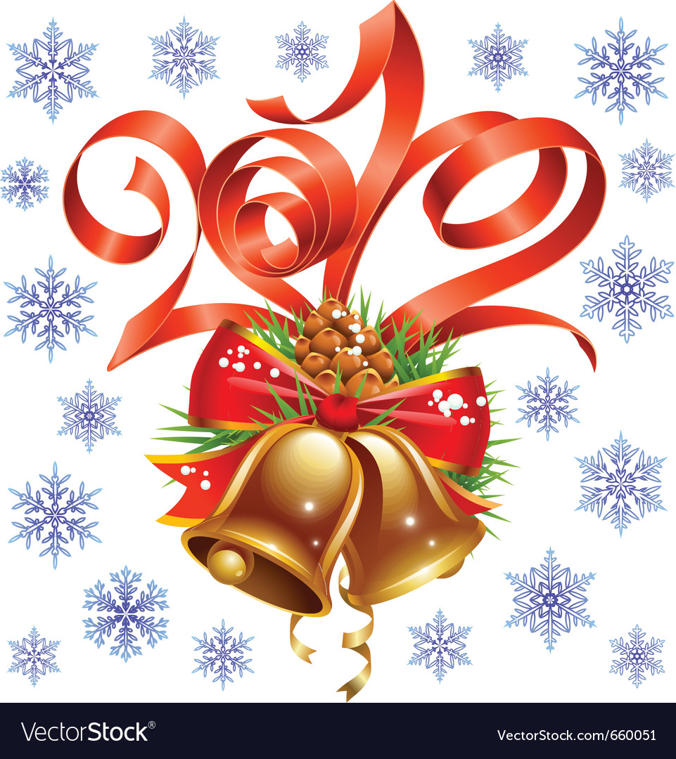 Christmas and new year decoration vector image