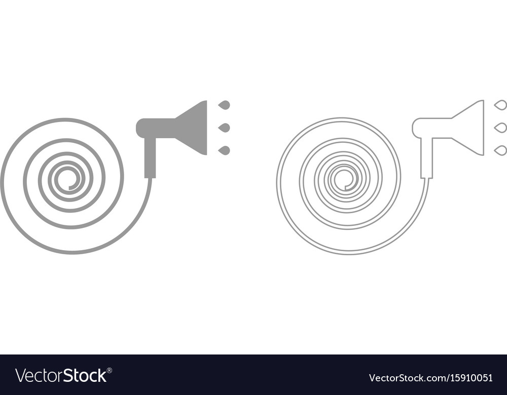 Jets of water irrigates set icon vector image