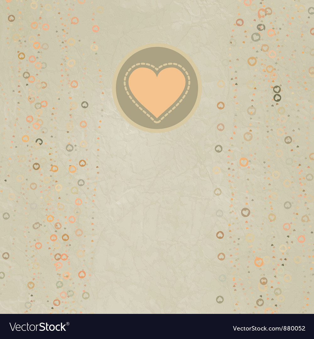 Valentine hearts card vector image