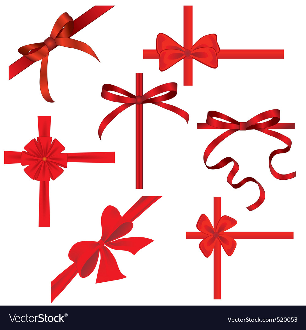 Silk ribbons Vector Image