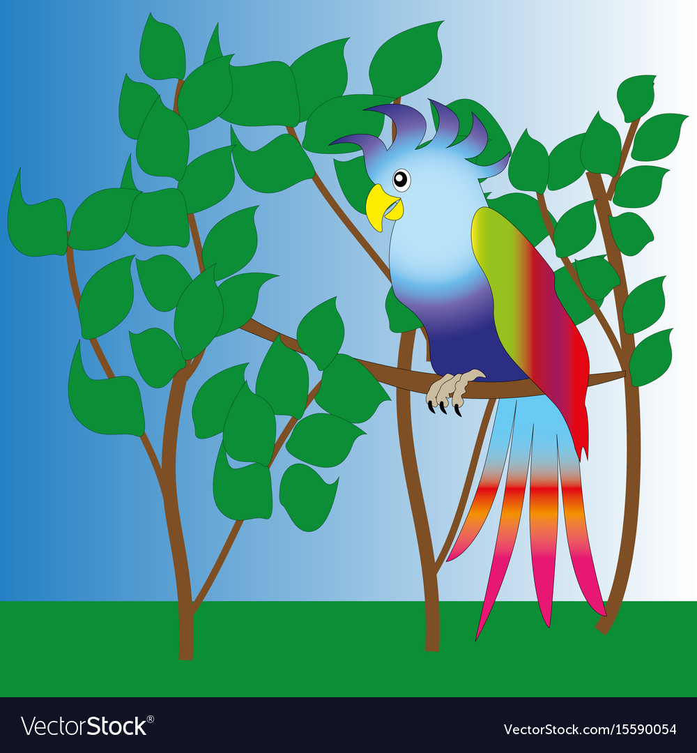 A big handsome parrot vector image