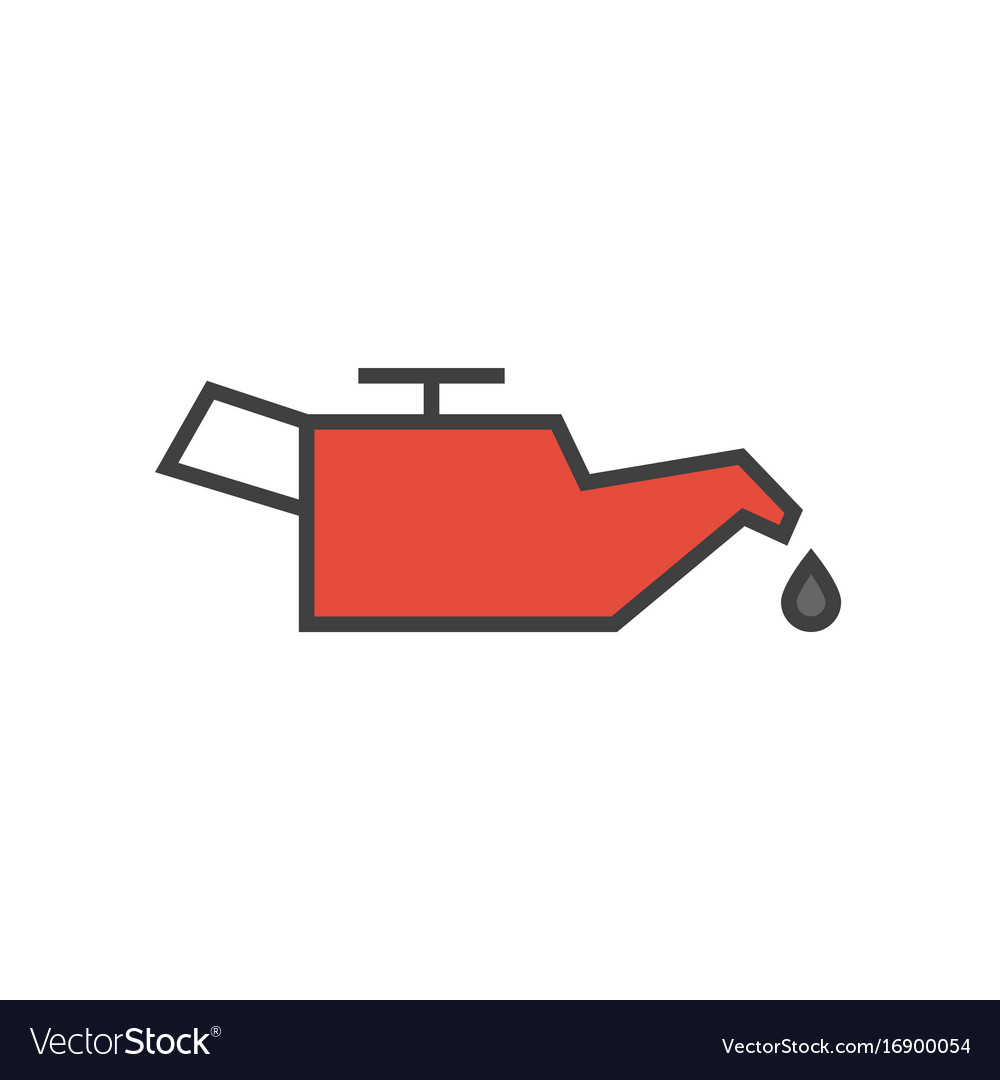 Car engine oil icon vector image