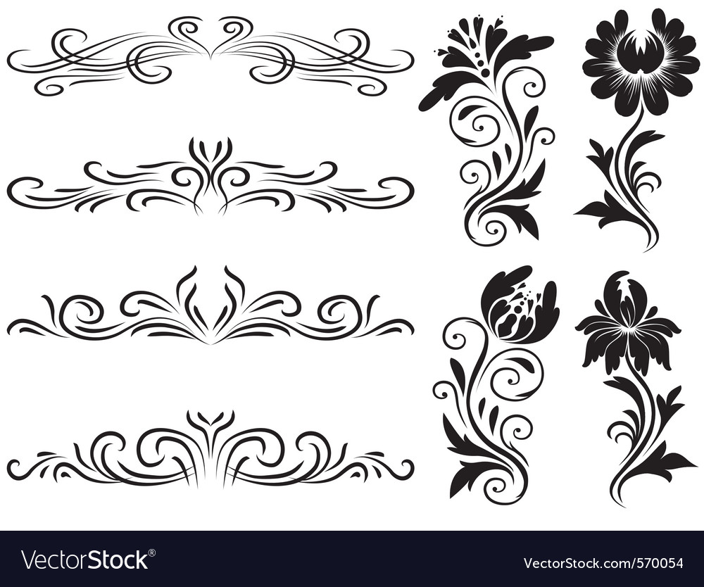 Horizontal elements decoration vector image