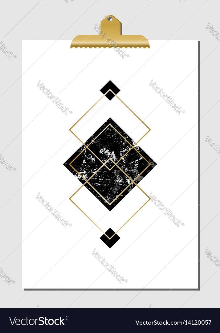 Geometric shapes poster vector image