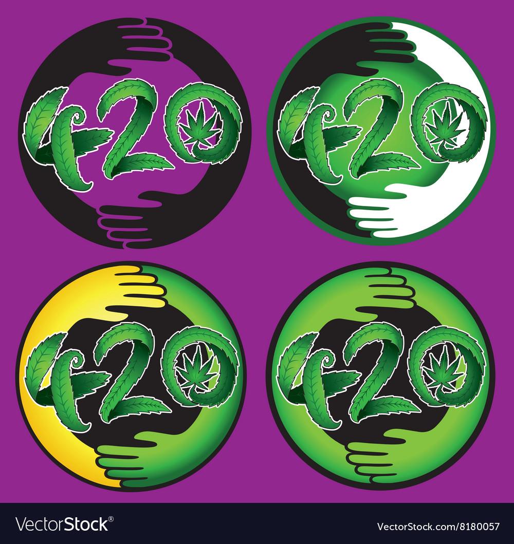 Marijuana leaf symbol 420 hemp text royalty free vector marijuana leaf symbol 420 hemp text vector image biocorpaavc
