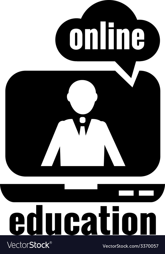 Online education logo vector image