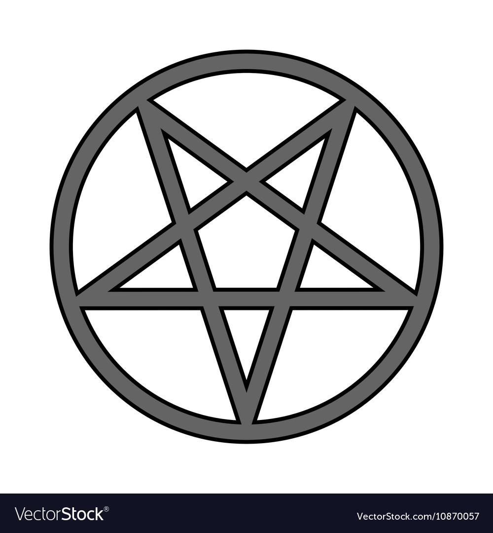 Pentagram symbol icon on white royalty free vector image pentagram symbol icon on white vector image biocorpaavc Choice Image