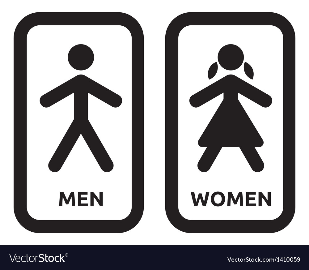 Bathroom Sign Vector man and women restroom sign royalty free vector image