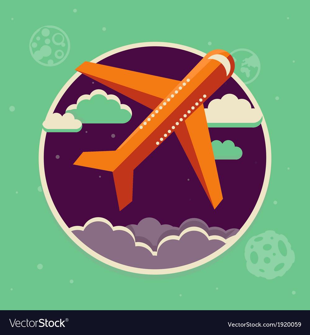 Plane flight vector image