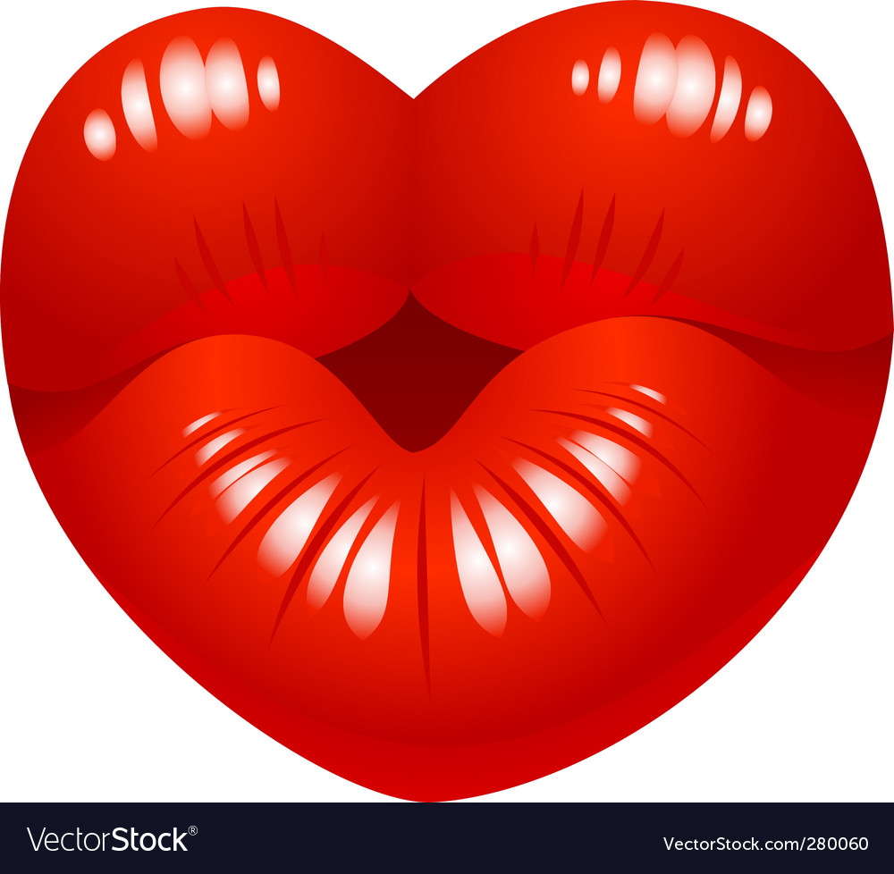 Kiss with love vector image