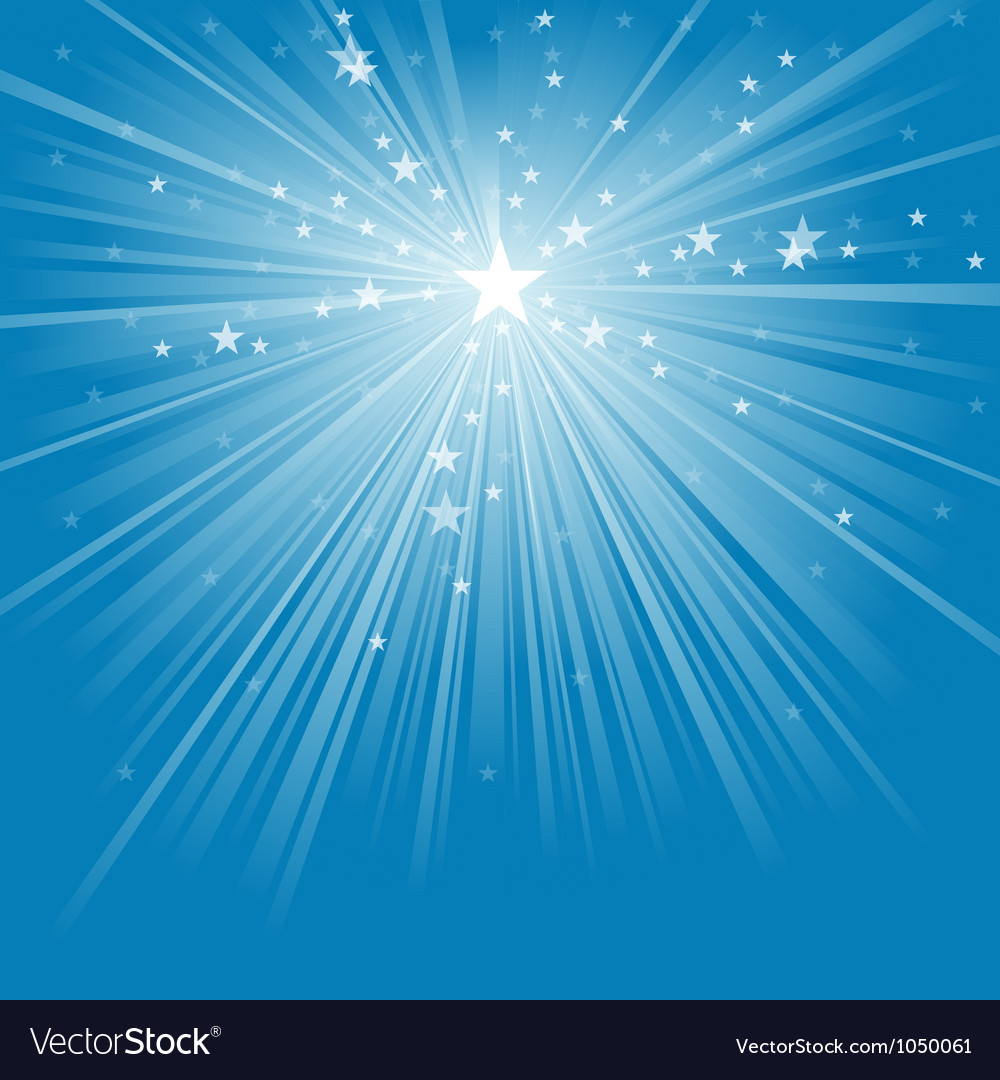 Light Rays and Stars vector image