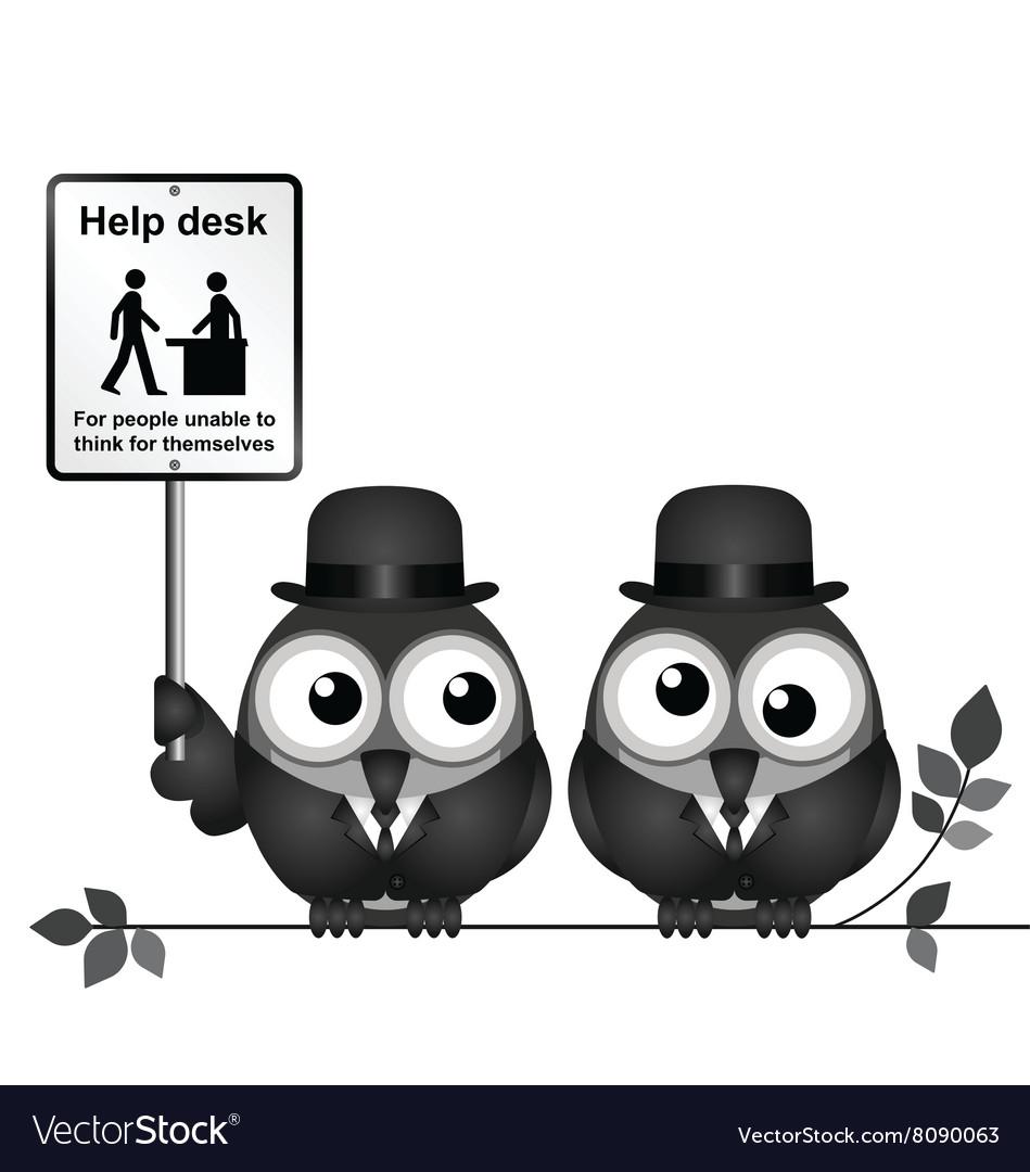Help Desk Sign vector image