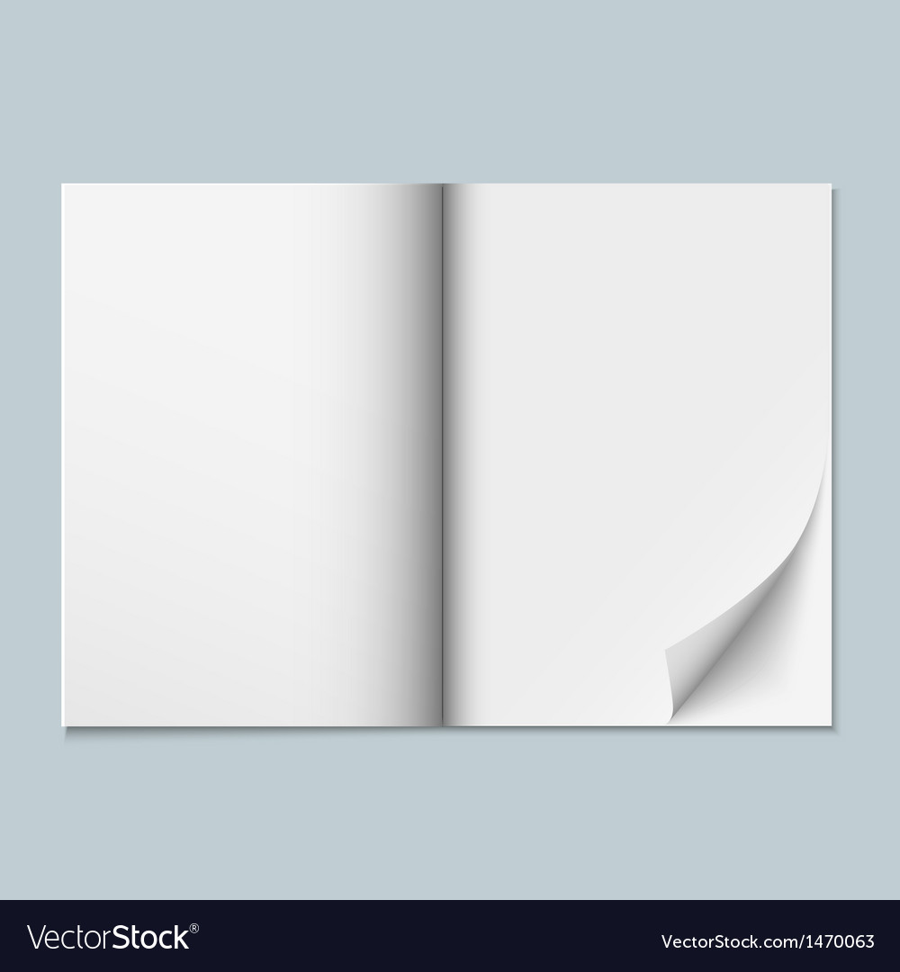 Blank Vector Calendar Template : Magazine template with blank pages royalty free vector image