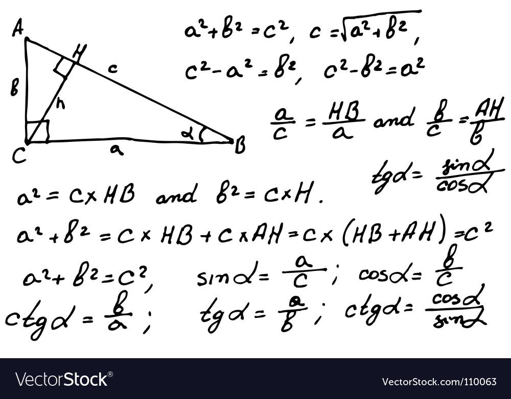 Mathematics Background Vector Image