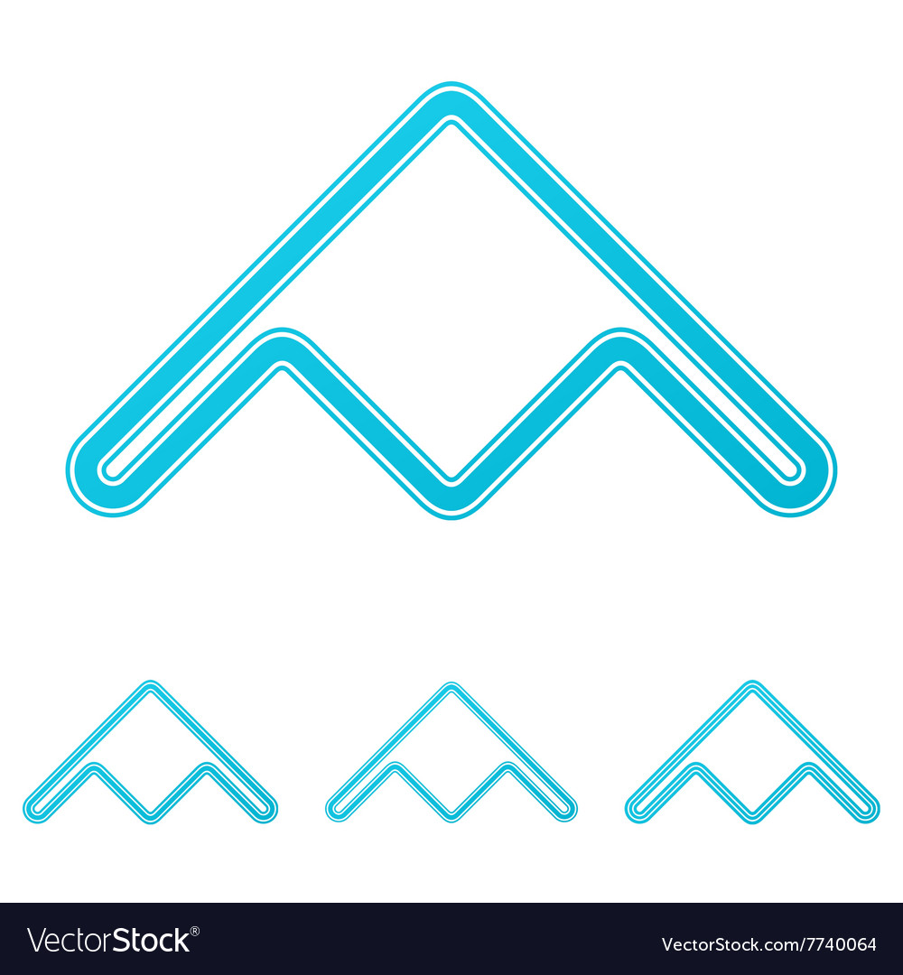 Cyan stealth bomber logo design set vector image