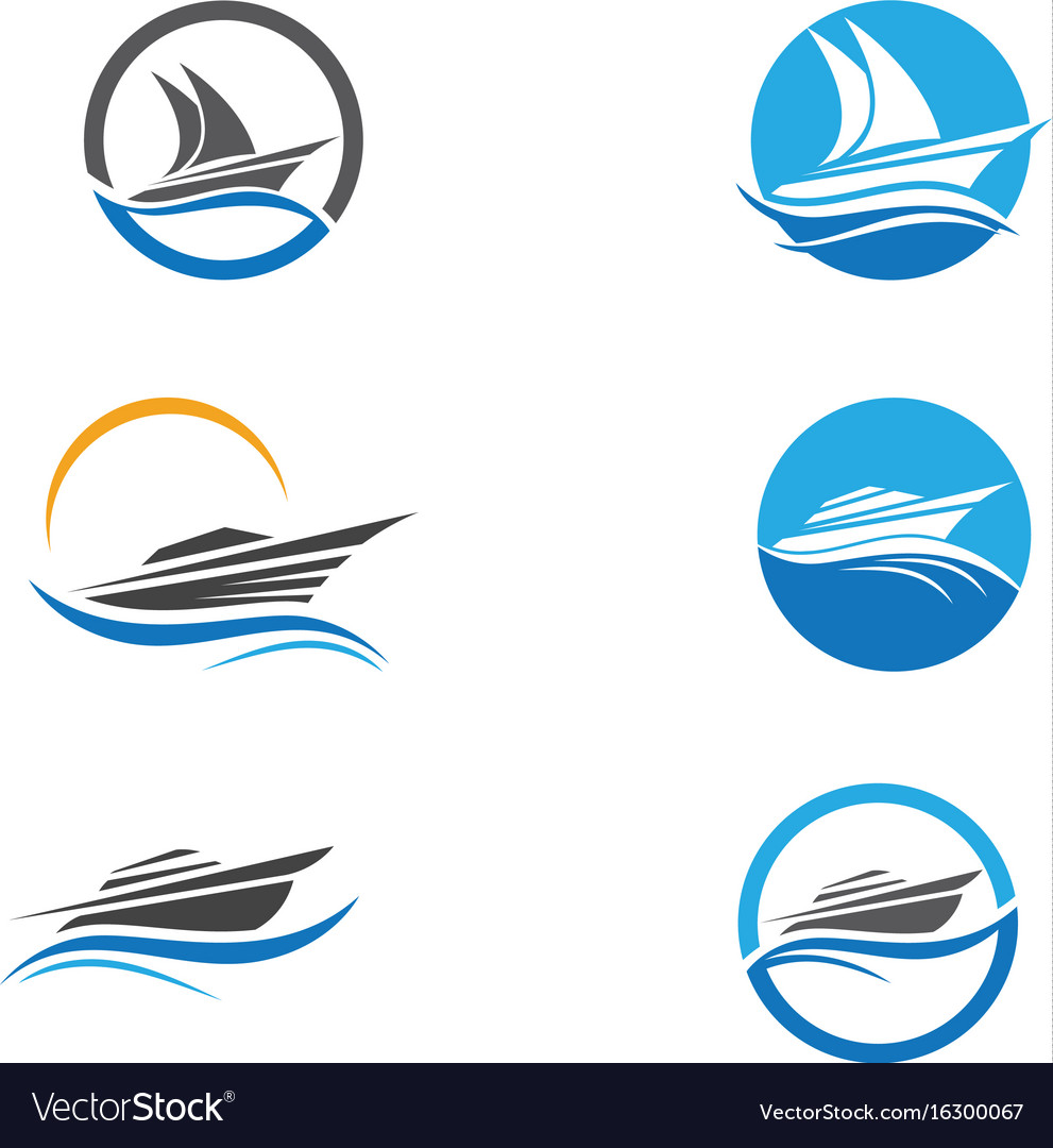 Cruise Ship Logo Template Icon Design Royalty Free Vector - Cruise ship logos