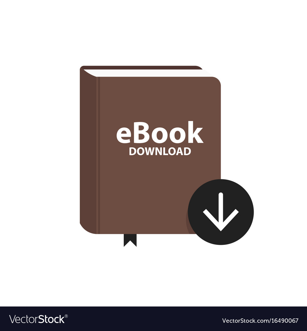 E-book icon with download arrow button online vector image