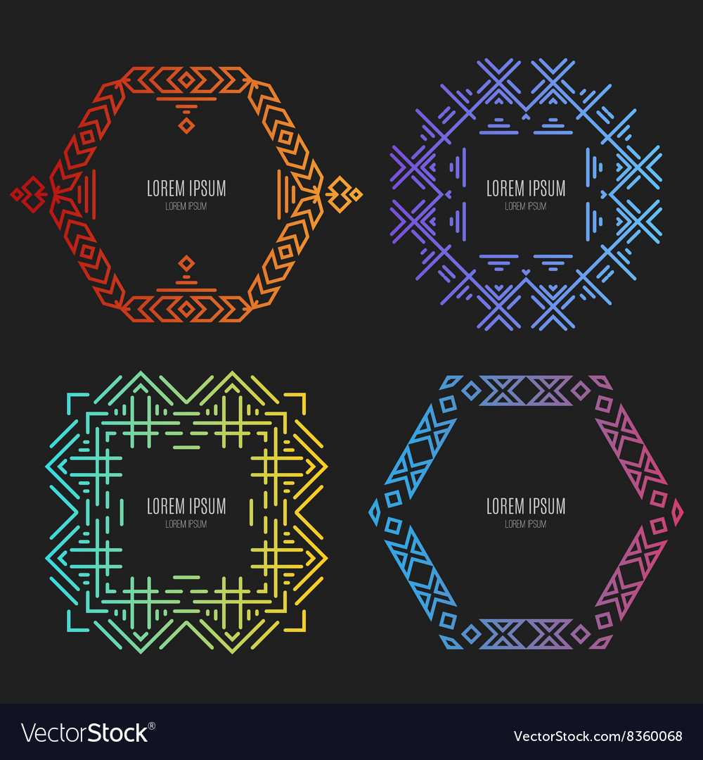Tribal Logos vector image