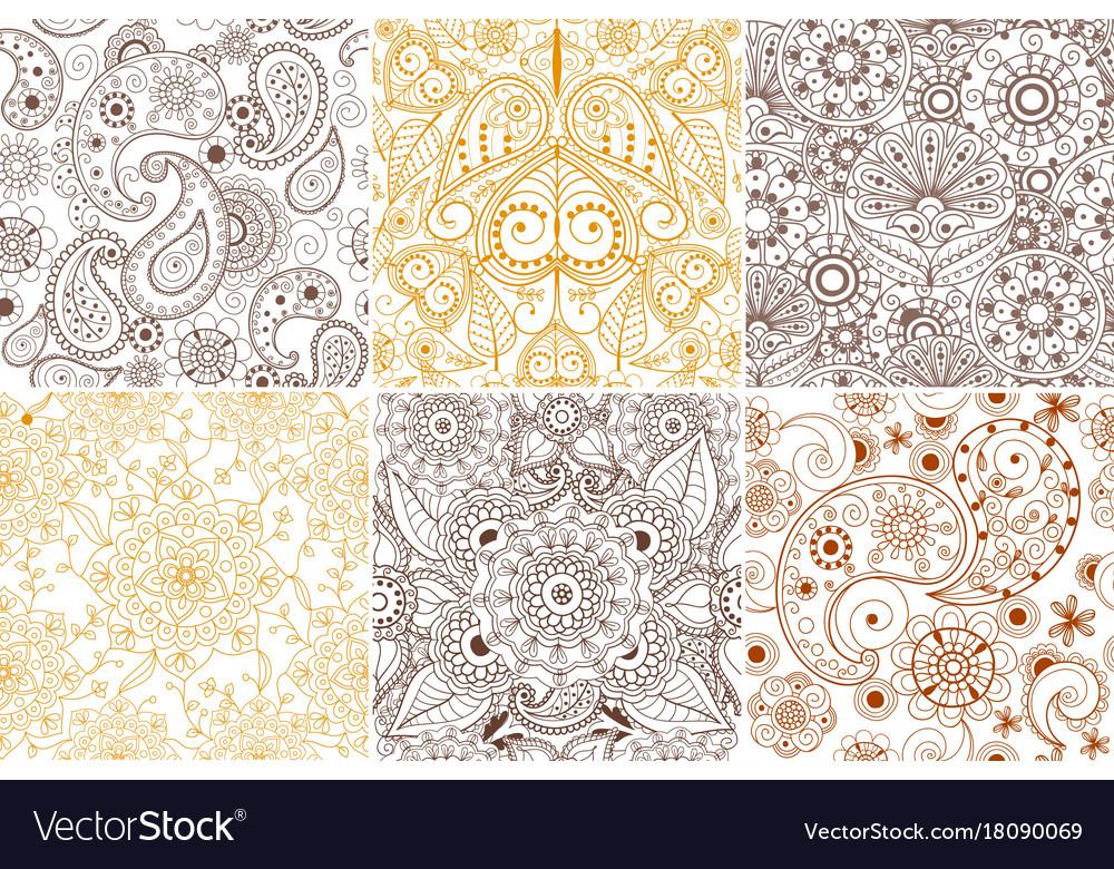 Floral mehendi pattern ornament vector image