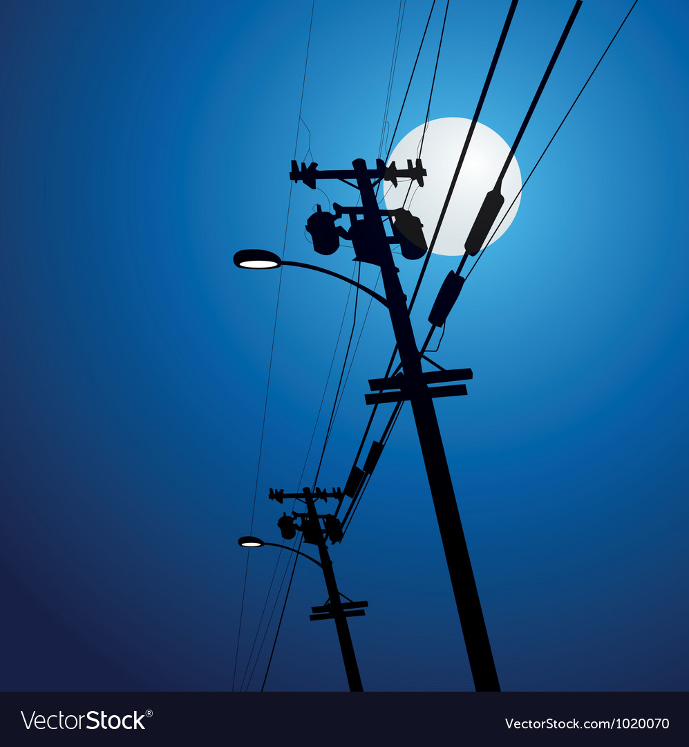 Electricity post vector image