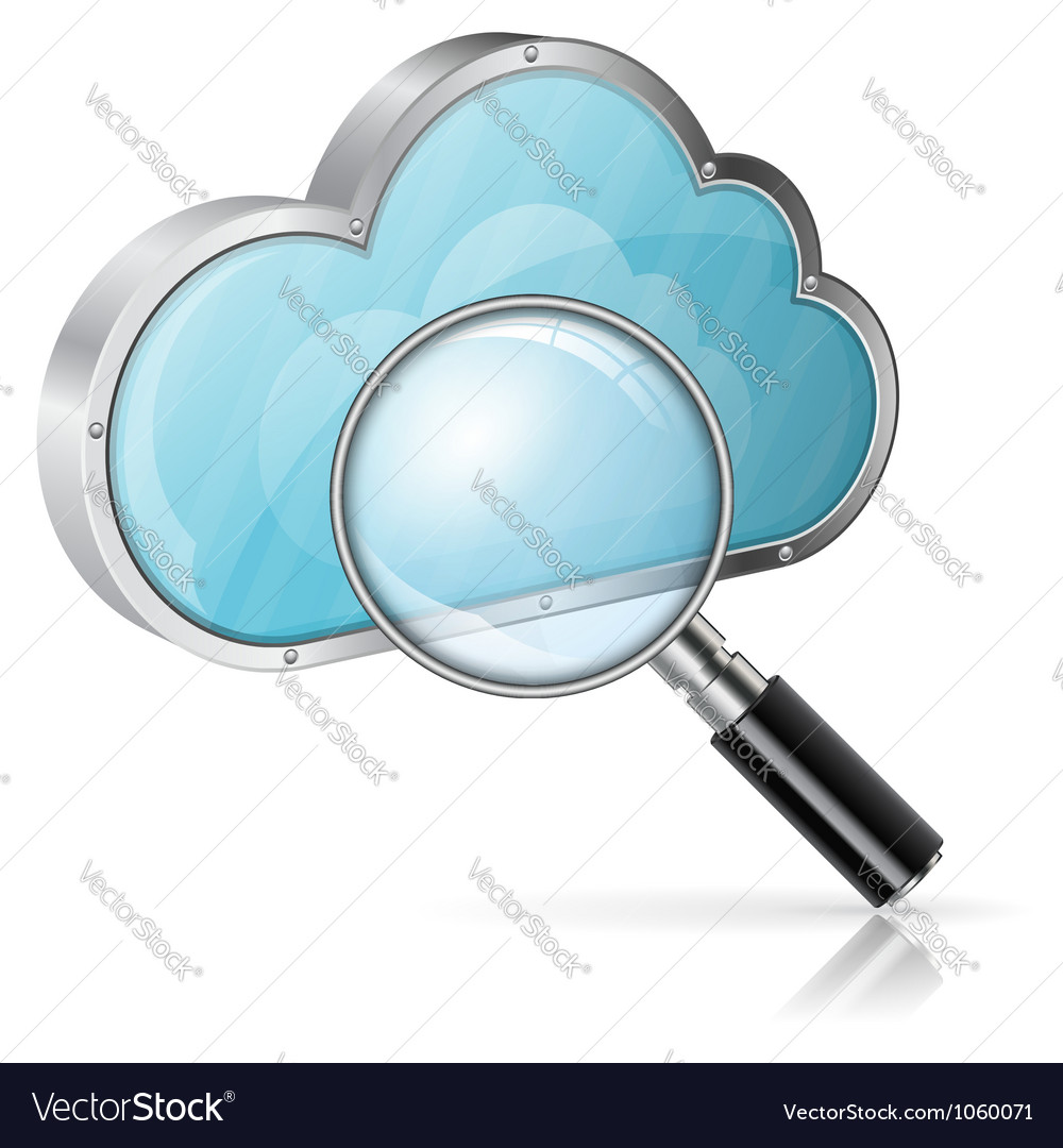 Search in Cloud Computing Concept vector image
