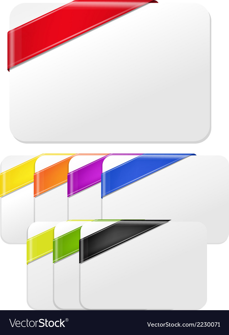 Color Web Ribbons vector image