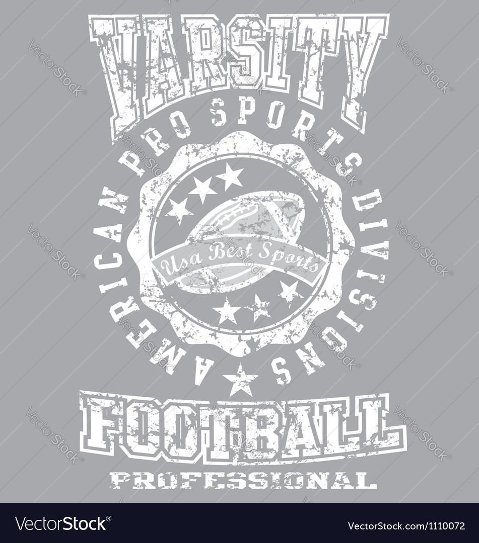 Varsity champ Vector Image