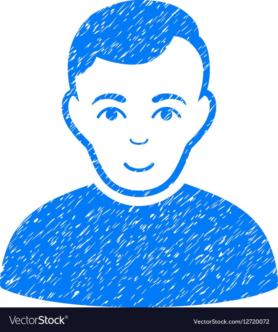 User Grainy Texture Icon vector image